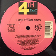 FUNKYTOWN PROS:JUST ANOTHA TOSS UP(LABEL SIDE-B)