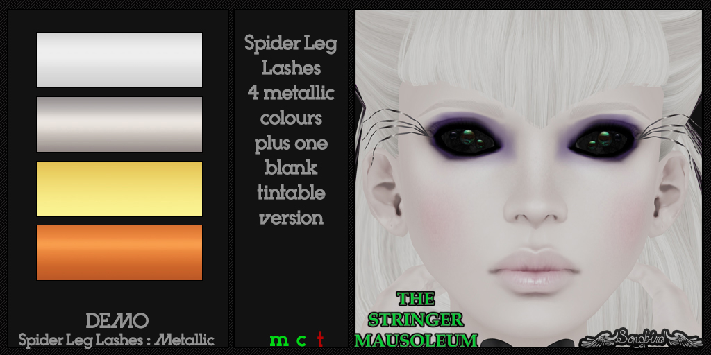 ~SongBird~ & *TSM* Spider Leg Lashes : Metallic