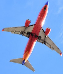 Southwest Airlines Boeing 737-300 planform view