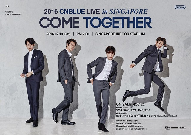 CNBLUE Come Together Live in Singapore 2016 Poster