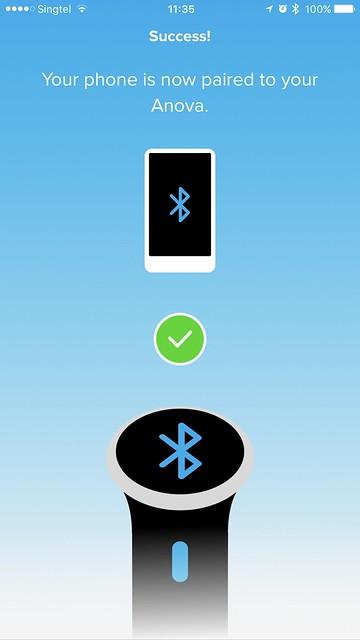 Anova Wi-Fi iOS App - Bluetooth Setup Done