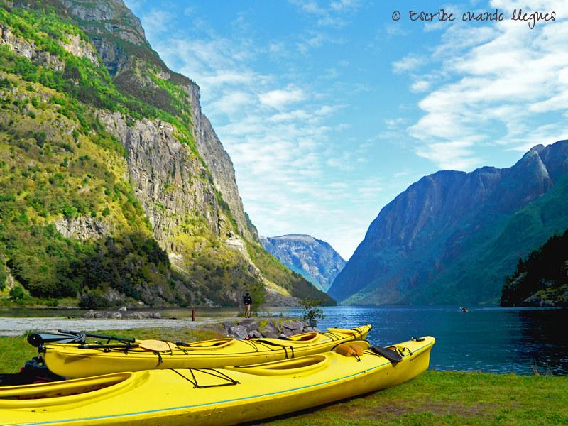 Fotografía del Nærøyfjord, declarado Patrimonio de la Humanidad por la Unesco