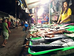 fish vendors from a local wet market