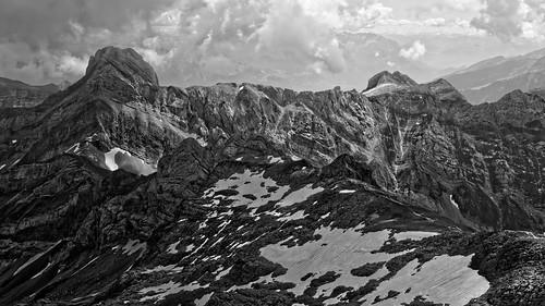 mountain bw blackandwhite switzerland säntis