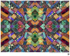 Modern Mandala Title: Owl or Embedded Tile Detail at Watts Towers LA CA V  #BartRoss ©2016  #simonrodia #americanfolkart #wattstowers #watts #discoverla #mirrored  #abstractphotography #artprints #Curator #LAart #artistic_share #abstraction  #Ar