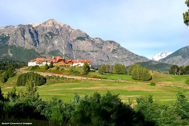 View to Llao Llao Hotel Golf & Spa Resort & Cerro Llao Llao, San Carlos de Bariloche, Río Negro, Argentina