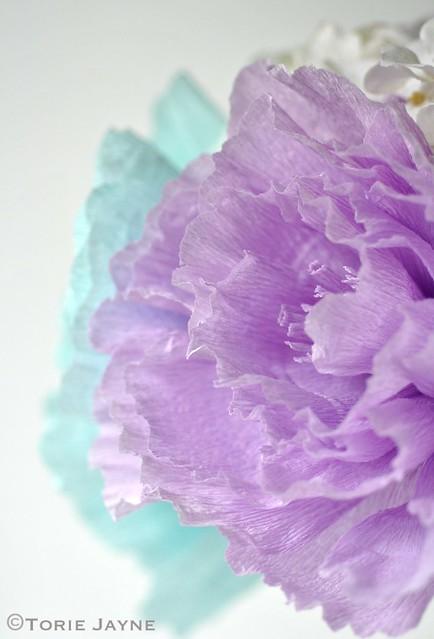 Crepe paper blooms
