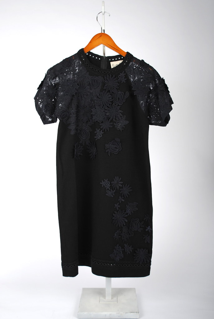 Embroidered Flowers on Jersey Dress