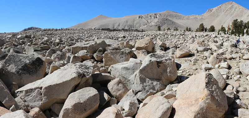 Gigantic Moraine Field of talus on the New Army Pass Trail just west of Cottonwood Lake Number 2