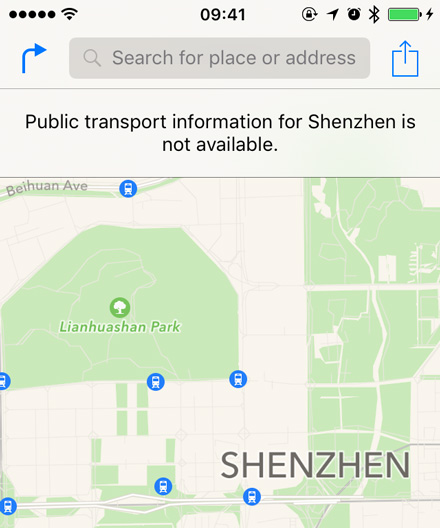 Shenzhen transit in Maps