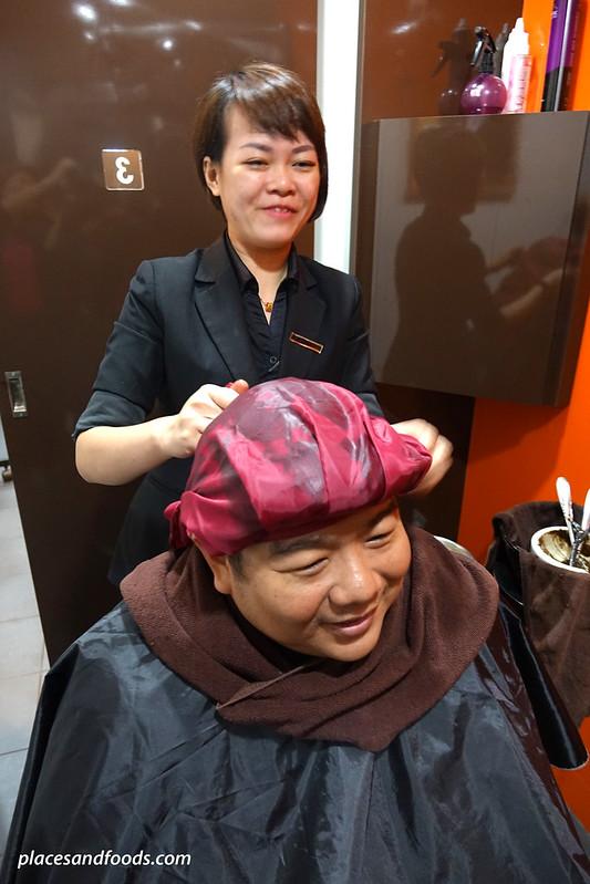 yun nam hair care hair treatment massage