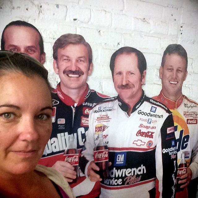 Now don't be too jelly of who I hung with today 😂 #nascar #cardboard #antiquemall