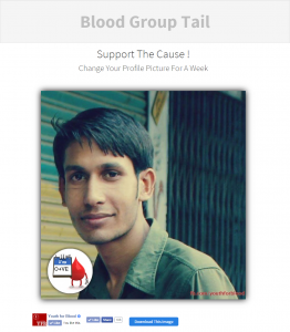 Blood group tail profile picture created
