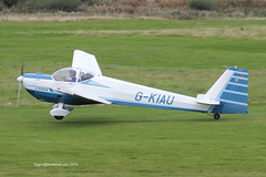 G-KIAU - 1989 build Scheibe SF-25C Falke 2000, departing from Runway 26R at Barton