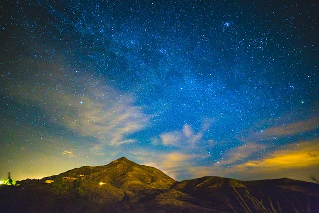 San Cayetano Mountains in Rio Rico at night