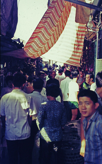 SAIGON 1970 by Charley Seavey - Crowded market