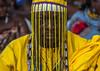 Benin, West Africa, Ouidah, dada vognon adidékon famous healer with a mask hiding his face by Eric Lafforgue