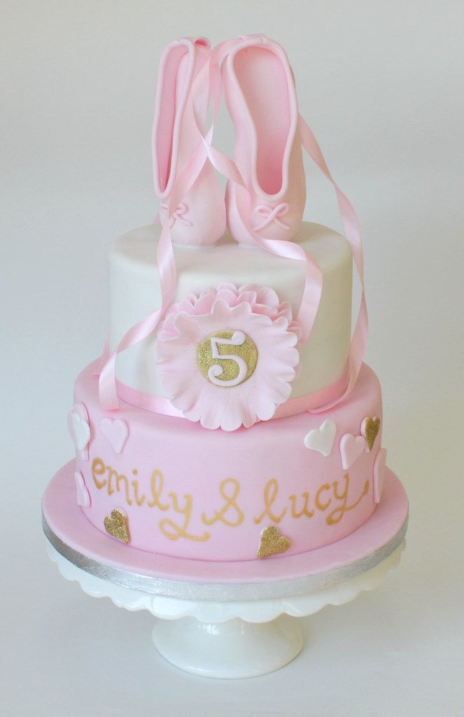 Ballet Shoes Cake For 5 Year Old Twins Handmade