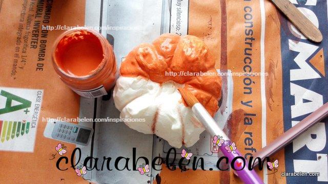 Calabazas hechas con espuma poliuretano expandido