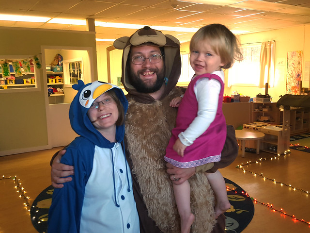 Masha, the bear, and the penguin