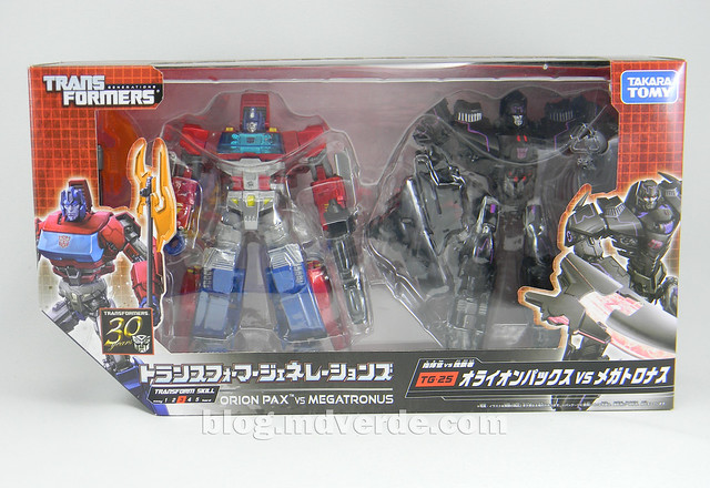 Transformers Orion Pax vs Megatronus Deluxe - Generations - caja