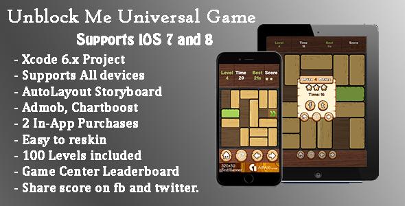 Codecanyon Unblock Me v2.1 Universal Game (Swift)