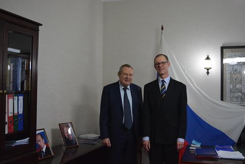 Встреча с Генконсулом Швеции в Санкт-Петебурге Э. Хаммаршельдом