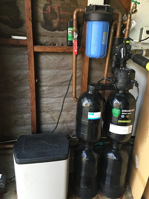 Replaced carbon in the softener