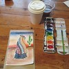 Watercoloring workshop. Hey, I'm not half bad! #watercolor #painting #artist #tucson #tanqueverderanch #tw