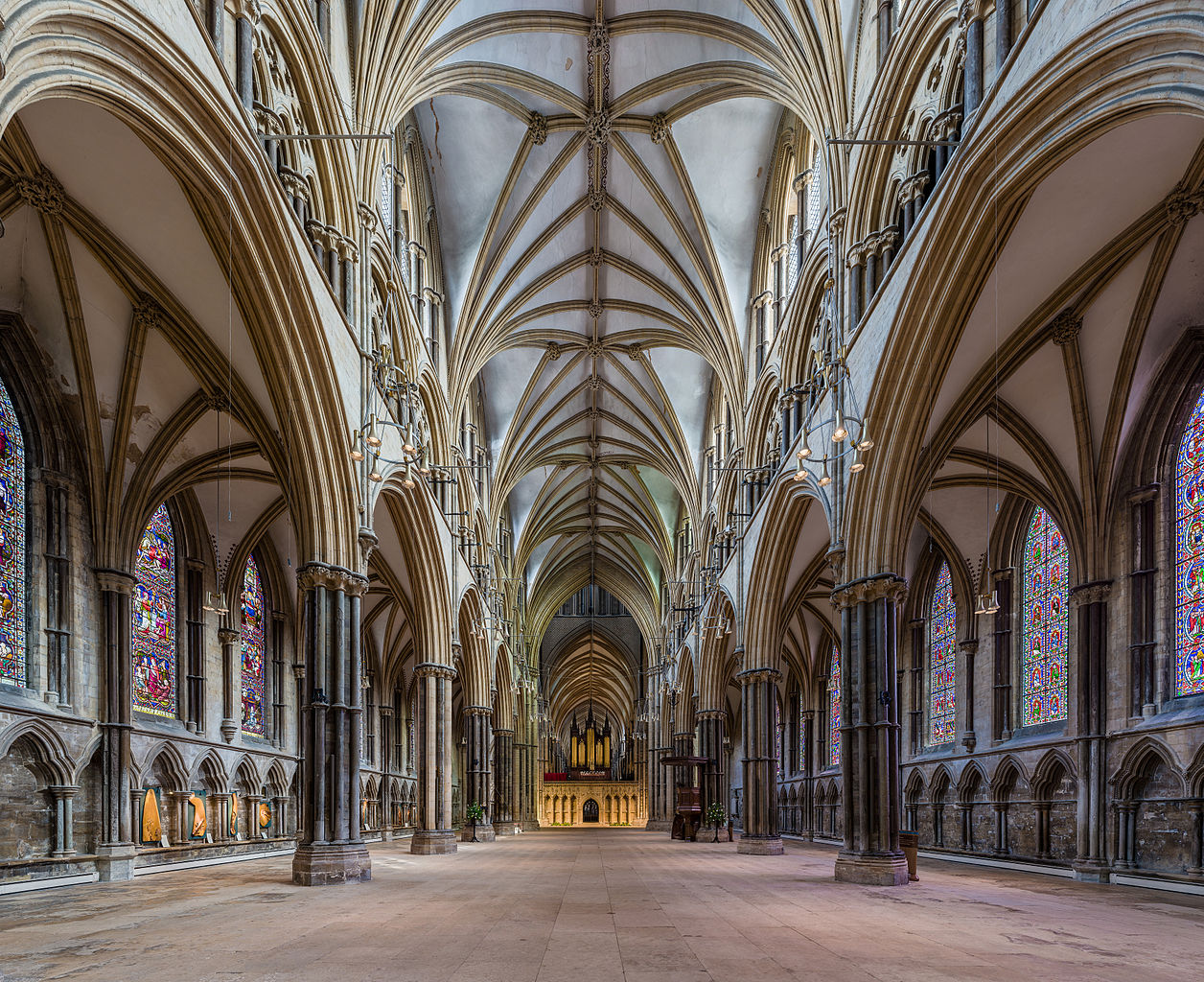 Lincoln Cathedral - The nave looking east. Credit: David Iliff