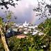 Hiking with rainbow over San Isidro