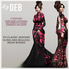 LEGENDAIRE DEB GOWN WITH EARRINGS