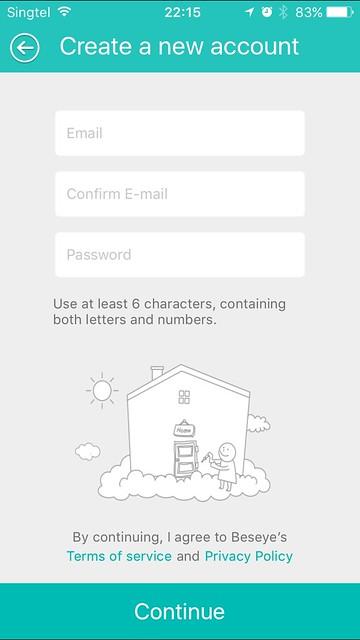 Beseye Pro - iOS App - Setup #2