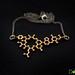 Oxytocin 3D printed pendant necklace by Dot San