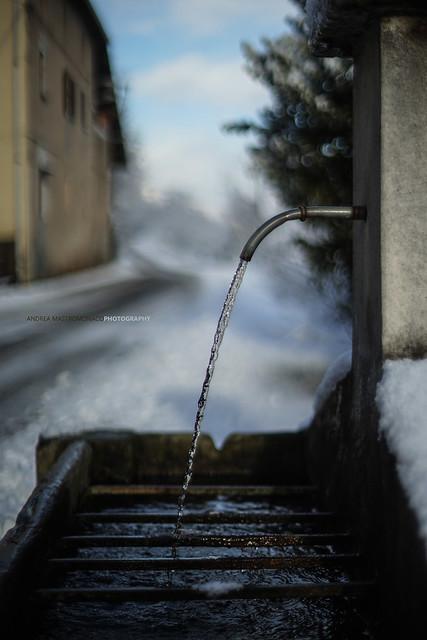 la prima bella nevicata qui nel Novarese
