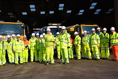 Highways maintenance contract signing and depot visit
