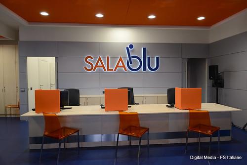 Sale Blu Ferrovie : A roma termini una nuova sala blu comunicati fsnews