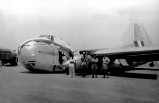 1954 Bristol Freighter NZ5901 crashed at Mauripur, Karachi, Pakistan 19 Apr 1954