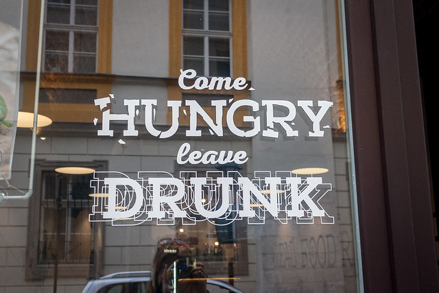 """Come hungry, leave drunk"", Kraków"