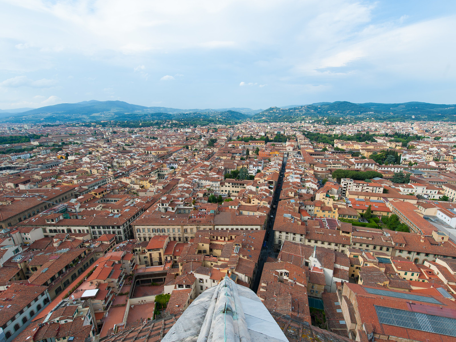 View of Florence from the top of of Duomo di Firenze, Florence Italy
