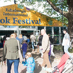 Gates open to the Book Festival | The first visitors arrive at the 2015 Edinburgh International Book Festival © Alan McCredie