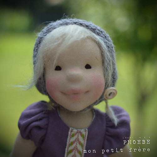 "Phoebe, 14"" natural fiber art doll by Mon Petit Frère"