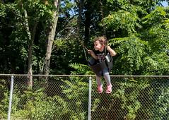 Natalia on the swing