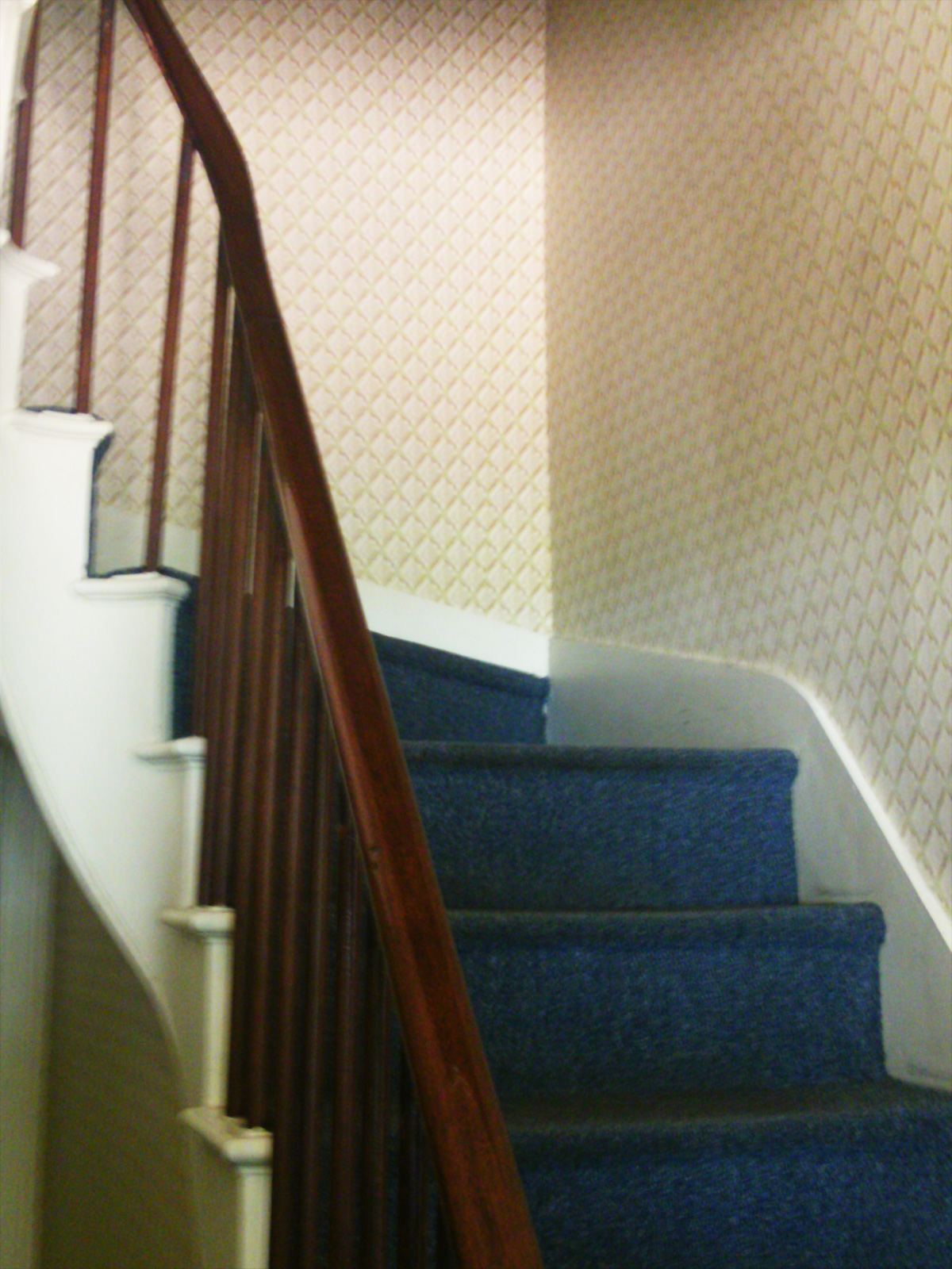 Staircase in the Lincoln home
