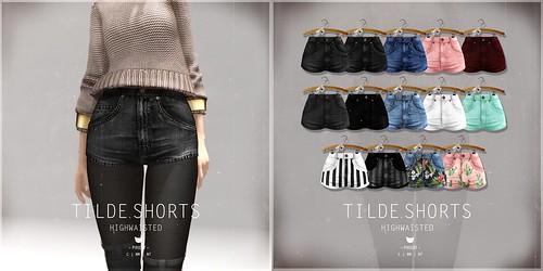 Tilde.Shorts Highwaisted @ Kustom9