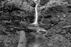 UPPER TIGERS CLOUGH WATERFALL, RIVINGTON, LANCASHIRE, ENGLAND.