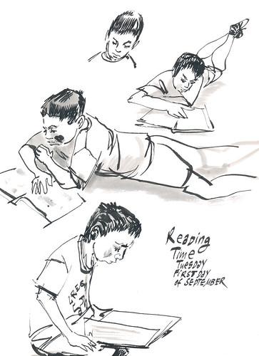 Sketchbook #92: Reading Time