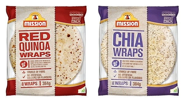 Mission Red Quinoa Wraps & Chia Wraps