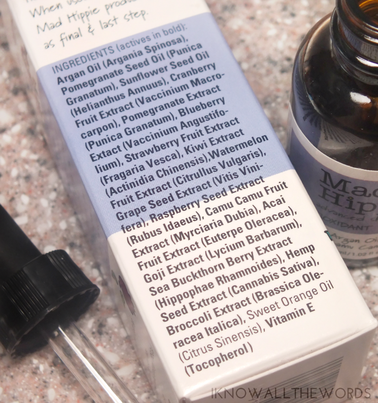 mad hippie antioxidant facial oil (5)