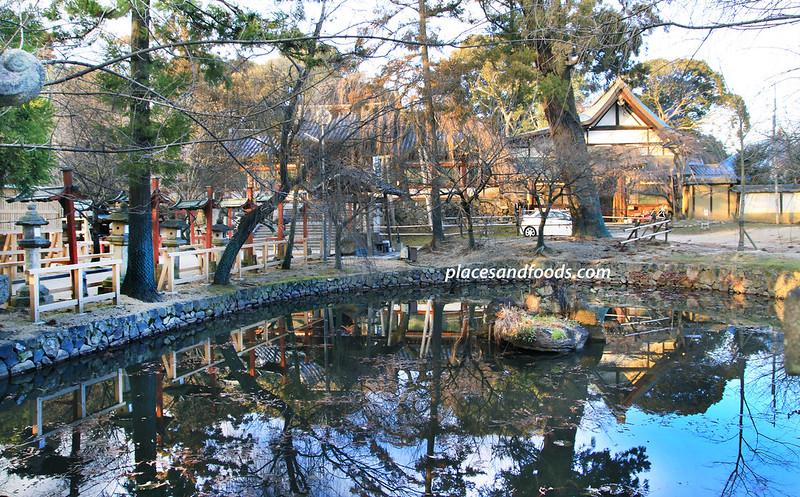 Himuro Shrine Nara water reflection